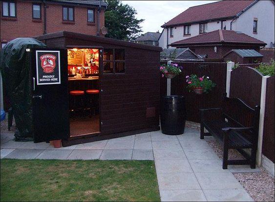 Bar shed sheds and garden sheds on pinterest for Garden shed pub