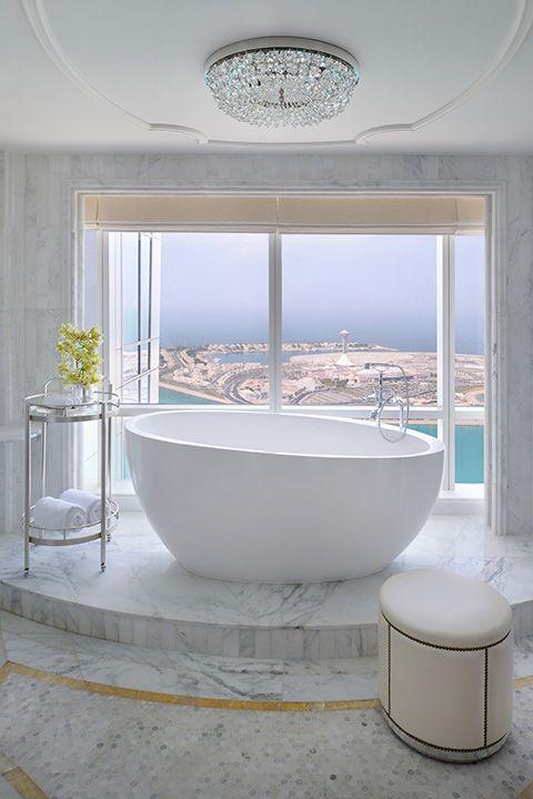 Etonnant Putting A Tub On A Pedestal ... A Really Nice Marble Pedestal. HBA Project  : The St. Regis Abu Dhabi | Bathrooms | Pinterest | Abu Dhabi, Tubs And  Marbles