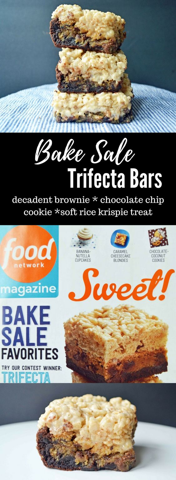 Bake Sale Trifecta Bar is the ultimate dessert bar. Made with a layer ...