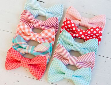 gingham, polka dots & seersucker, oh my! coral and mint bow ties from The Belle and The Beau //   The Boys' Guide to Summer Accessorizing