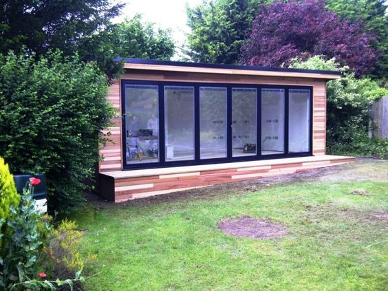 I am so into this idea right now i want to build an for Garden office and shed