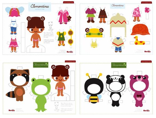 Cute free printable paper dolls.