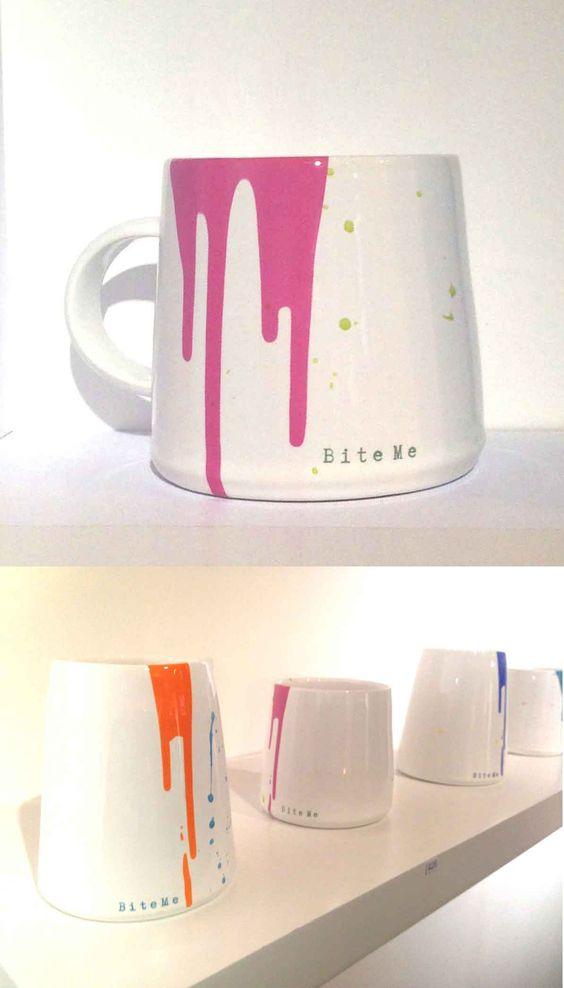 Taz Pollard 'Bite Me' ceramics, as seen at Clerkenwell Design Week 2015