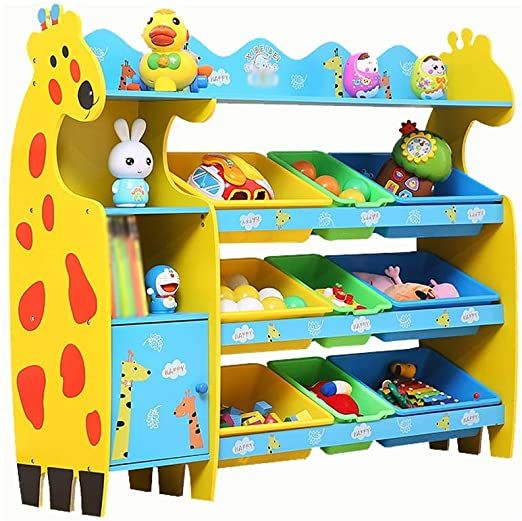 Lumeng Kids Toy Storage Unit With Removable Plastic Container Box Children S Toy Storage Unit Playroom Kid Toy Storage Toy Storage Units Childrens Toy Storage