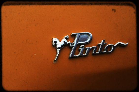 retro home decor vintage car seventies americana orange tomato grey -  Pinto - 8 x 10 Fine Art Photography Print - Dad