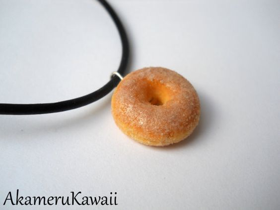 Sugar Donut Necklace by AkameruKawaii on Etsy, $8.00