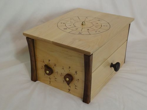Mysterious wood puzzle box in maple puzzle boxes for Escape room gadgets