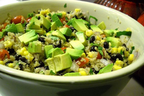 southwestern quinoa salad with chipotle vinaigrette from Jazz in the Kitchen