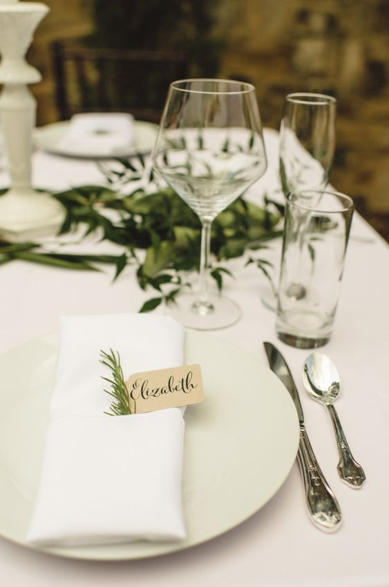 Natural Wedding Place Setting