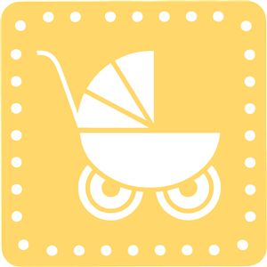 Silhouette Design Store - View Design #8514: baby carriage block