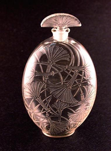"""Tantot (""""In a little while"""") Glass Perfume Bottle By Rene Lalique - France  c.1925"""