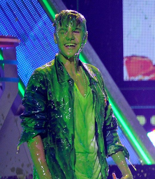 Justin Bieger gets slimed!