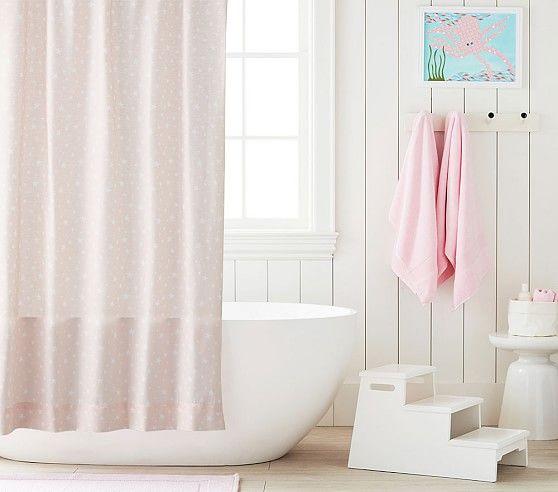 Star Shower Curtain Curtains Shower Pottery Barn Kids