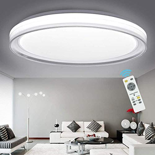 Dllt 48w Ceiling Light Fixture Industrial Led Dimmable Modern Flush Mount Lighting With Remote Ceiling Lights Modern Flush Mount Lighting Flush Mount Lighting Remote control ceiling light fixtures