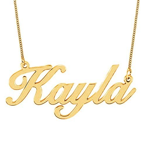 HACOOL 925 Sterling Silver Personalized Engraved Arabic Name Necklace