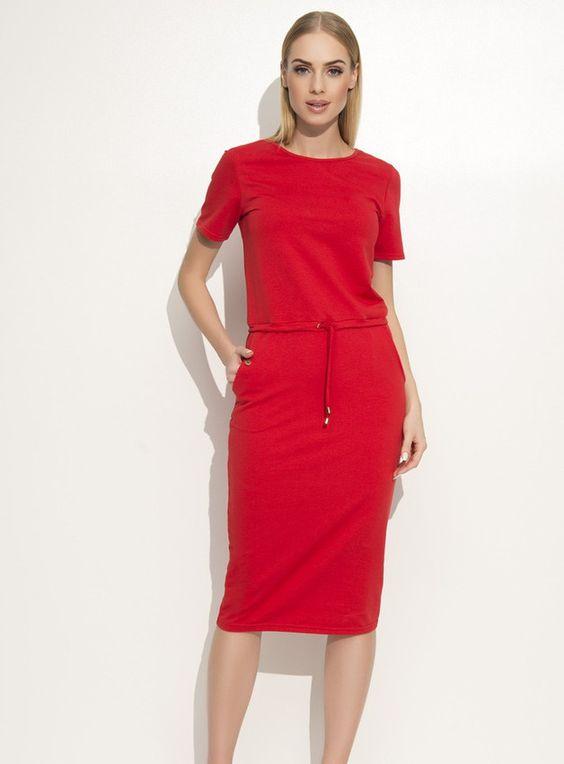 New Sukienka Holly Szmizjerka Czerwona Sukienki Moda Stworzone Z Miloscia W Kopanina Polska Przez Meleksima Elastan Fashion Dresses For Work Dresses
