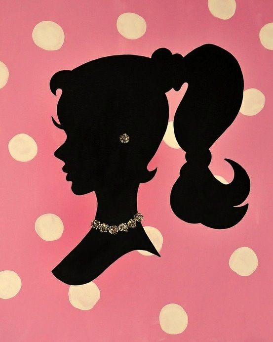 Girly Vintage Barbie Silhouette   Inspire me, pink...   Pinterest ...