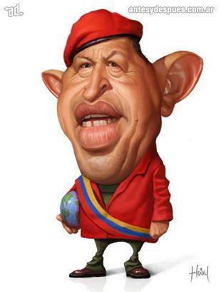 La caricatura de Hugo Chavez