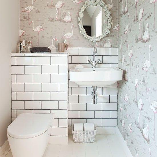 Decorative cloakroom   Small bathroom ideas   Bathroom   PHOTO GALLERY   Housetohome.co.uk