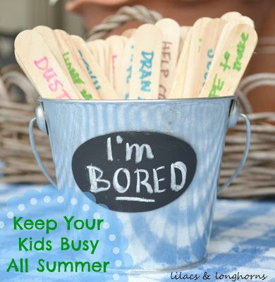 Help kids fight summer boredom with this activity bucket!