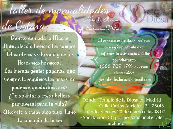 Manualidades de Ostara 2018 @ Templo de la Diosa en Madrid
