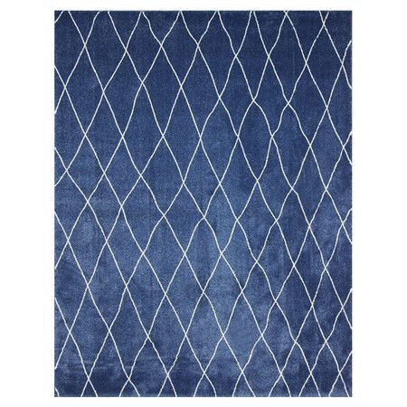 Casablanca Rug - perfect for giving a living room that cozy-casual-exotic-travel feel: Living Rooms, Blue Room, Blue Rugs, Polypropylenecolor Dark, 100 Polypropylenecolor, House Rugs, Accent Rugs