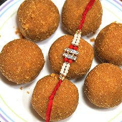 Send Rakhi with Besan Laddoo to #USA