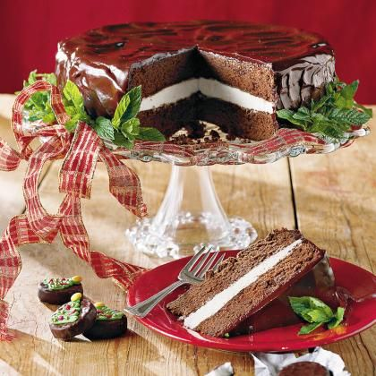 Chocolate-Mint Cake