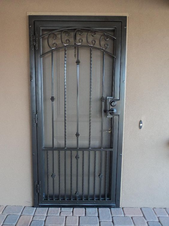 How to paint a security screen door for Entry door with screen and glass