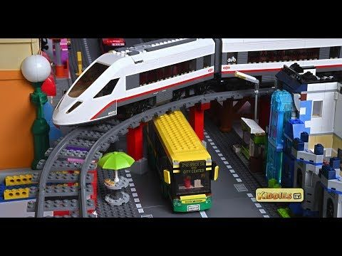 Watch This Fun Lego Bus Story With Tayo Buses And Lego High Speed Passenger Train 60051 See New Minifigures And How The Lego Wheels Lego Bus Wheels On The Bus