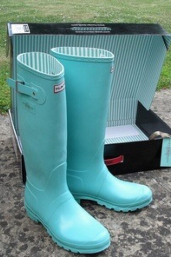 Tiffany Blue Rain Boots   Style   Pinterest   Rain boots Aqua and