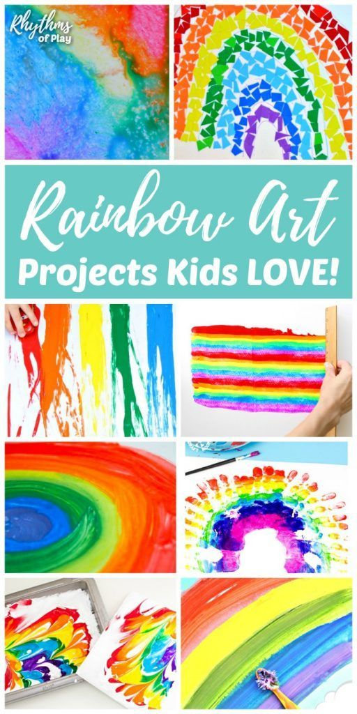 Rainbow Art Projects Kids Love And Rainbow Crafts Too