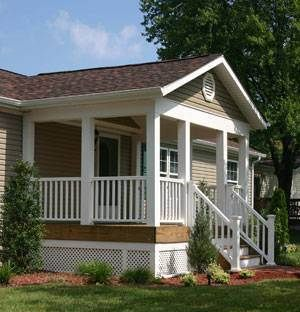 45 great manufactured home porch designs pinterest for Mobile home with front porch