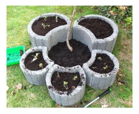 Me gusta mucho auch wenn ich diese pflanzsteine for Gartengestaltung mit pflanzringe