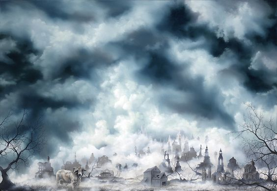 Artist Brian Mashburn's exquisite oil paintings of broken cities and decaying lands -- beautiful as they are haunting.