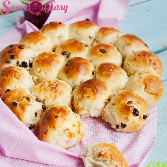 Das perfekte Party-Rezept: Süßes Brotrad