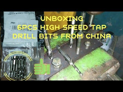 Unboxing 6 Pcs High Speed Tap Drill Bits Set From China Bor