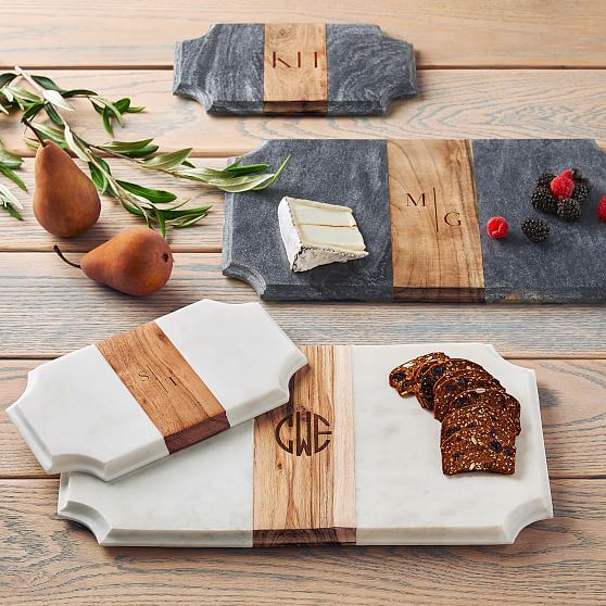 Wood And Marble Beveled Cheese Board Cheese Board Diy Wooden Cheese Board Marble Cheese Board