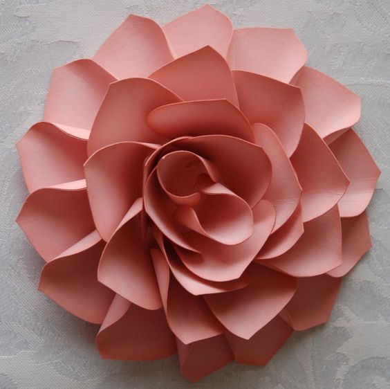 Rose made out of cardstock using Stampin' Up!'s ornament punch