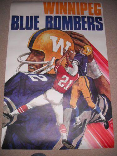 Winnipg Blue Bomber poster from 1970.
