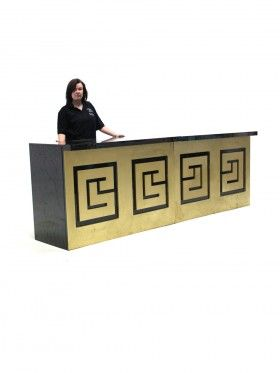 Black and Gold Drinks Bar
