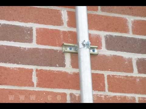 Attaching Conduit To Brick Using Tapcon Concrete Screws Youtube Brick Concrete Brick Wall