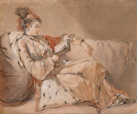 After François Boucher | 1703-1770 | Lady in Oriental Costume, Seated Upon a Divan | The Morgan Library & Museum