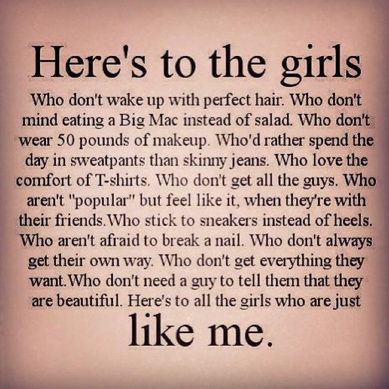 Here's to the girls...like me - Thoughts of a Beautiful Soul