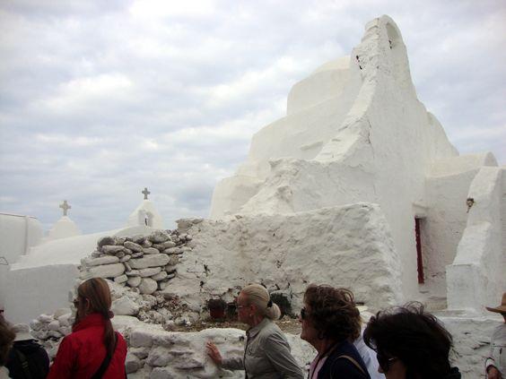 Igreja da ilha de Mykonos