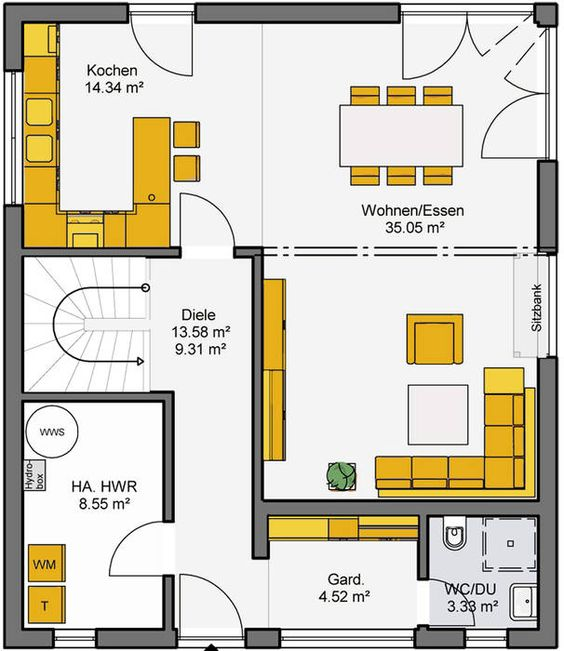 grundriss erdgeschoss b denbender hausbau sch ner wohnen pinterest layout und w sche. Black Bedroom Furniture Sets. Home Design Ideas