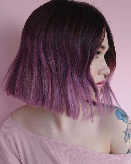 23 Best Short Ombre Hair Ideas For 2019 Stayglam Short Ombre Hair Purple Ombre Hair Ombre Hair Color