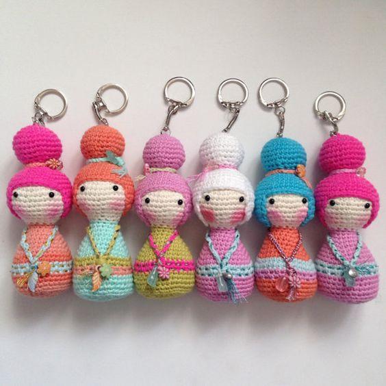 Amigurumi Geisha Tutorial : 1 stuk Amigurumi haak Kokeshi pop tas charme - Geisha Doll ...