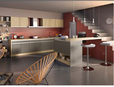 La cuisine couleur taupe on l\'adore | Salons, Kitchens and House