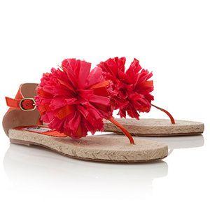 Lanvin pom pom sandals